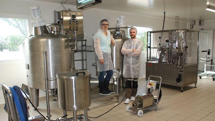 Blandine et Thomas Graindorge ont cherché à valoriser leur production de lait écrémé