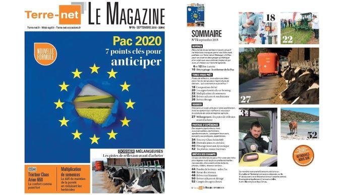 Couverture et sommaire de Terre-net Le Magazine n°75