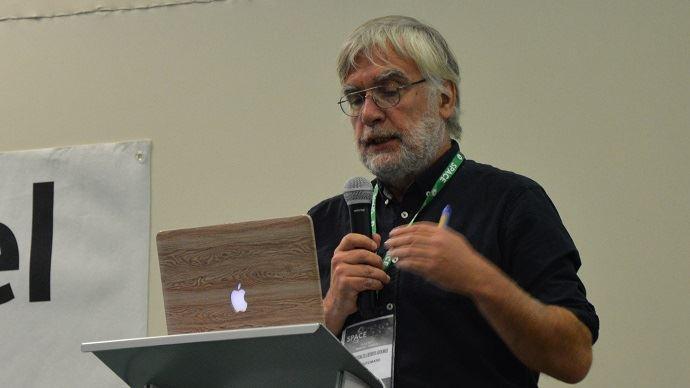Hervé Guyomard, directeur de recherches à l'Inra, lors d'une conférence sur la Pac au Space 2018, à Rennes.