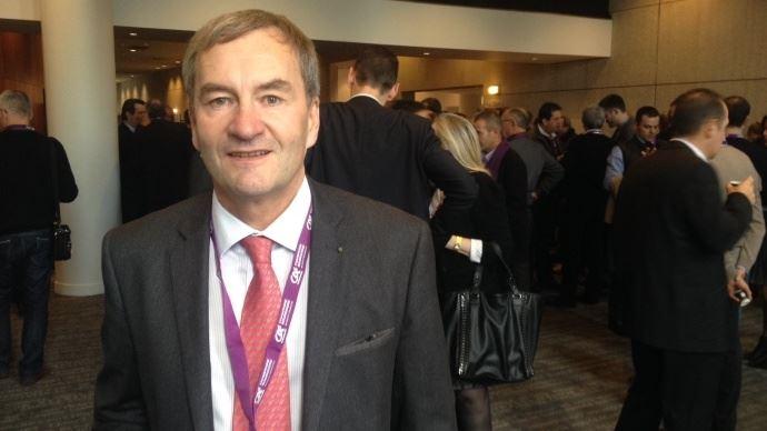 Emmanuel Hyest, président de la FNSafer, lors du congrès 2014 de l'organisation, à Dijon.
