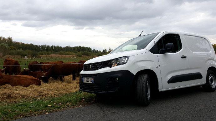 Le Peugeot Partner est presque identique à son cousin de Citroën