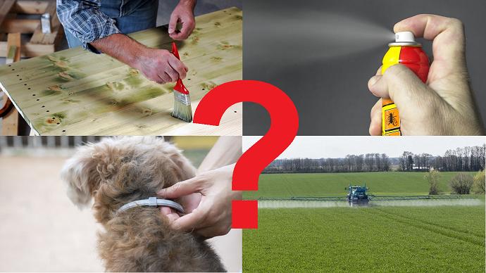 Parmi les produits phytosanitaires les plus représentés dans les cheveux analysés, une grande part est utilisée par le grand public dans la vie quotidienne