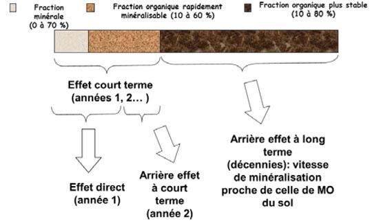 Schéma du devenir des différentes fractions de l'azote contenues dans les Pro