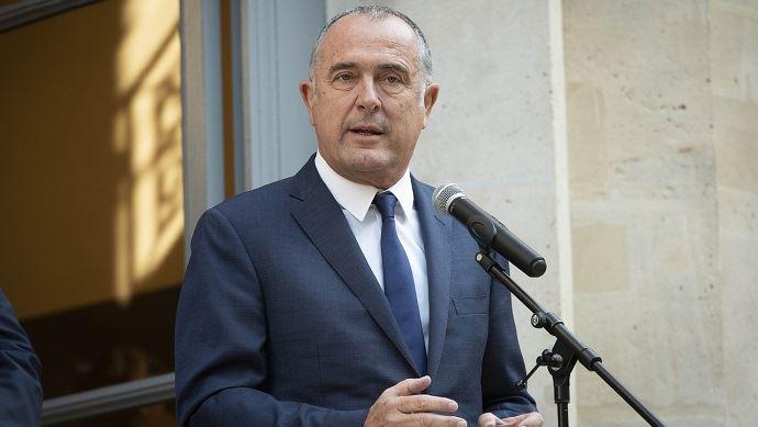Didier Guillaume lors de la passation de pouvoirs avec Stéphane Travert le 16 octobre 2018.