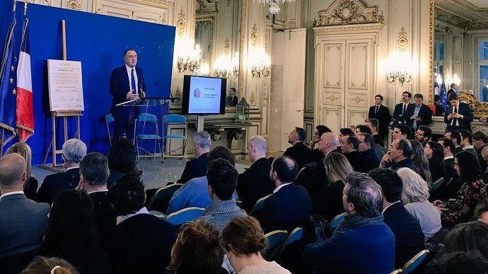 Didier Guillaume, ministre de l'agriculture, lors du lancement officiel du club Prosper, au ministère de la transition écologique et solidaire, vendredi 10 décembre 2018.