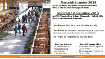 Deux élevages de l'ouest ouvrent leurs portes les 12 décembre et 9 janvier