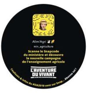 campagne de communication del enseignement agricole sur snapchat