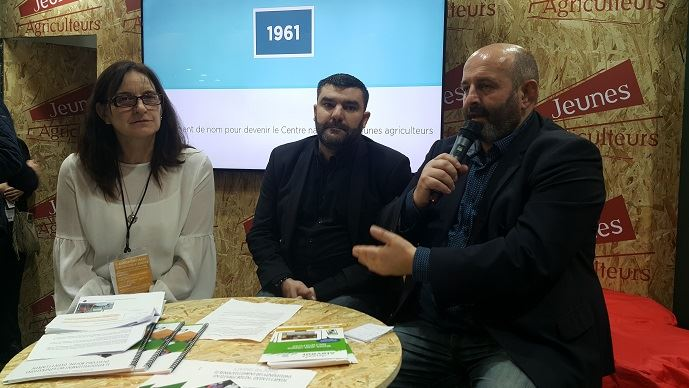 Michèle Boudoin, présidente de la FNO, Jérémy Decerle, président de Jeunes agriculteurs, et Bruno Dufayet, président de la CNE, ont présenté un livre blanc commun en faveur du renouvellement des générations en élevage.