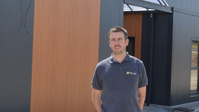 Landry Jaglin, directeur d'Arland, fabricant de pulvérisateurs portés et trainés.