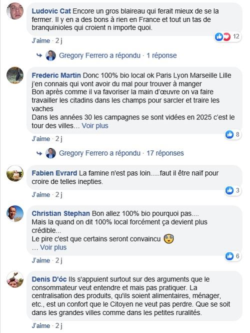 post facebook elections europeennes programme agricole eelv
