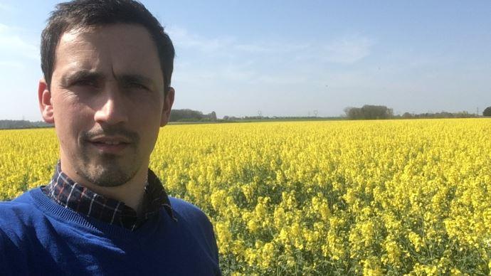 Benoît Guilbert, agriculteur dans le Pas-de-Calais