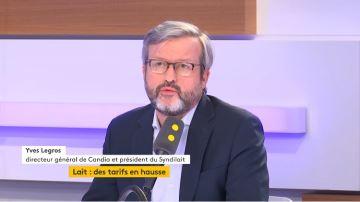 Yves Legros (Candia) : «Notre objectif: payer les éleveurs 400¤/1000l»