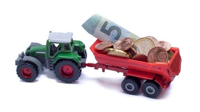 Tracteur et argent