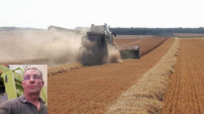 guy noel verdot agriculteur en cote d or a fait sa derniere moisson avant la retraite