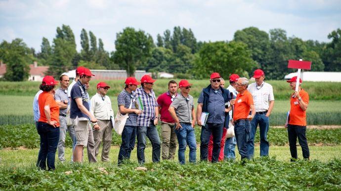 Visite champs agricole