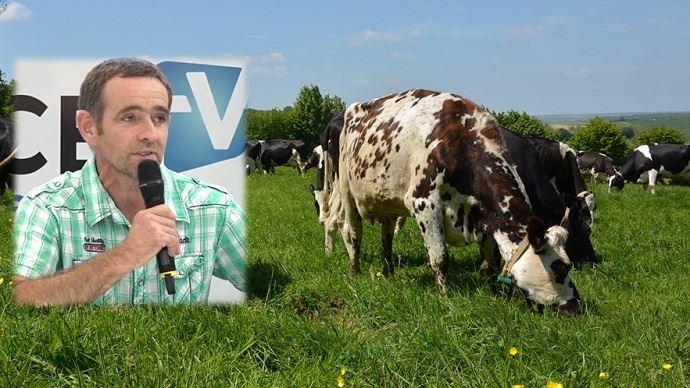 Fabrice Charles, éleveur laitier des Côtes d'Armortémoigne: «En 10 ans, on est quandmême passé d'un système intensif à toute autre chose! On divisé notre temps de travail par 2, voire par 3 selon la période»