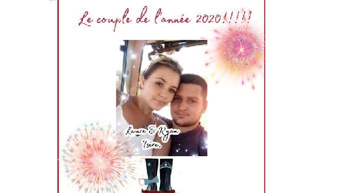 Laure et Ryan, couple de l'année 2020