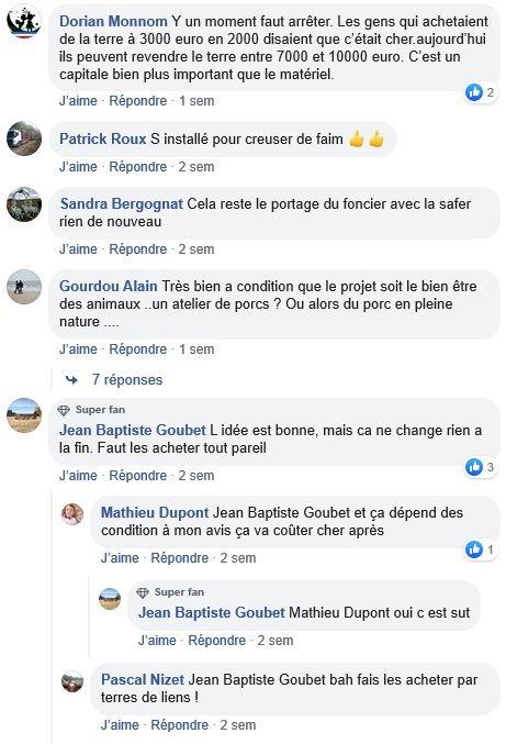 posts facebook achat differe de foncier agricole