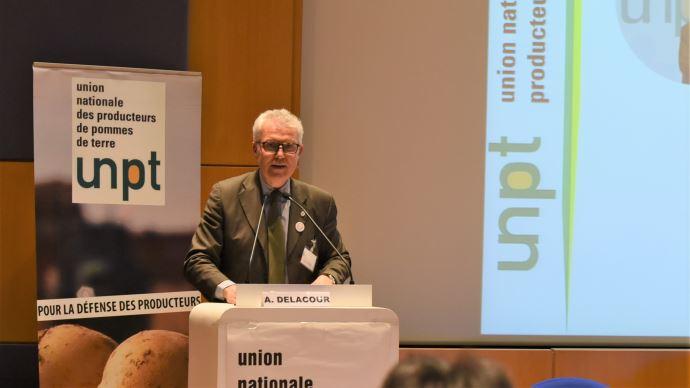 Arnaud Delacour, président de l'UNPT lors du 17ème congrès de l'organisation