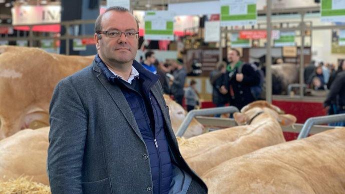 Olivier Damaisin, député du Lot-et-Garonne, lors du salon de l'agriculture 2020.