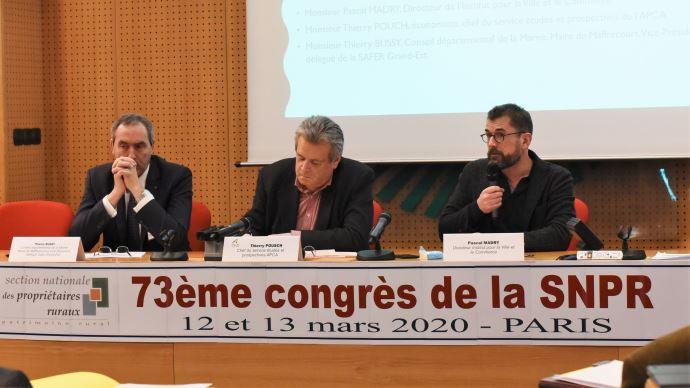 Thierry Bussy, Thiery Pouch et Pascal Madry le 13 mars, au congrès de la SNPR à Paris