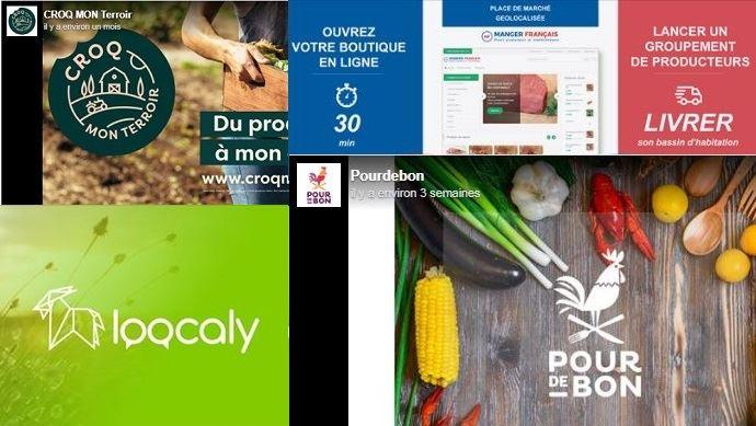 Exemples de plateforme de vente en ligne de produits agricoles