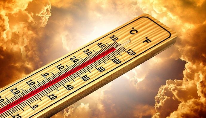Thermomètre en été