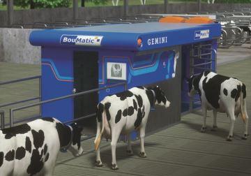 1 robot, 2 boxes, 1 bras... par lots, jusqu'à 110 vaches laitières