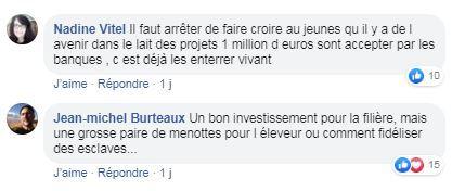 post facebook paroles de lecteurs investissement en elevage laitier