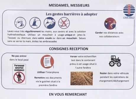 gestes barrieres cooperatives agricoles moisson 2020 covid 19