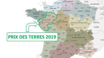 Tous les prix des terres 2019 en Pays de la Loire
