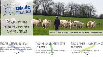 Site Déclic travail.fr: l'élément déclencheur d'une réflexion chez les éleveurs
