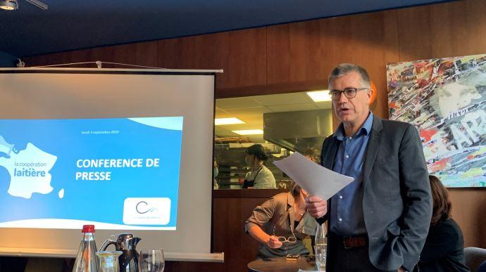 Damien Lacombe, président de la Coopération laitière, a dressé un bilan du secteur après la crise sanitaire