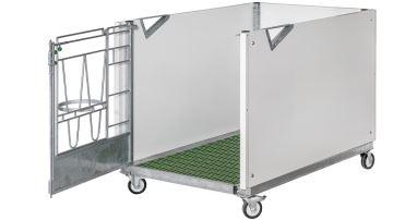 Calfotel présente sa nouvelle case à veau mobile sur plancher caillebotis