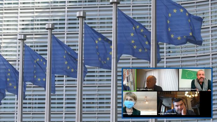 Les eurodéputés Anne Sander, Eric Andrieu, Jérémy Decerle et Benoit Biteau ont échangé le 15 octobre sur la Pac post-2020