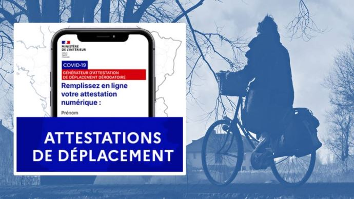 Confinement: les justificatifs de déplacement sont disponibles en ligne sur le site du ministère de l'Intérieur, ou via l'application TousAntiCovid