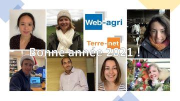Terre-net et Web-agri vous souhaitent une bonne année 2021