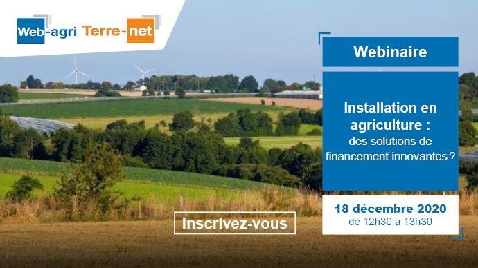 webinaire web agri financement installation en agriculture