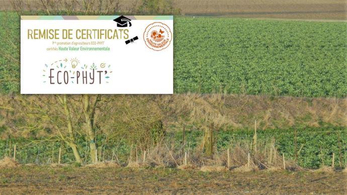 Les agriculteurs certifiés HVE 3 de l'association Eco-phy' ont témoigné le 29 janvier sur les différents atouts de cette certification.