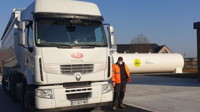 Novial convertit sa flotte de camions au carburant
