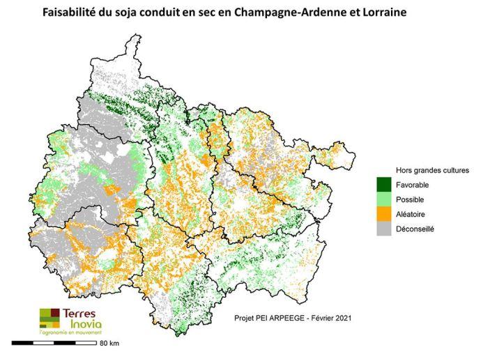 Faisabilité du soja conduit en sec en Champagne-Ardenne et en Lorraine