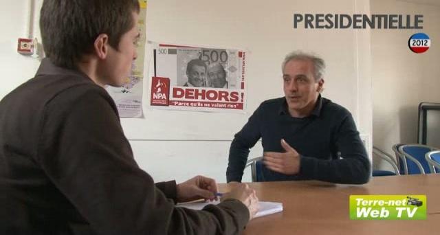 La vision agricole de Philippe Poutou, candidat du Npa