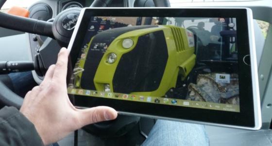 Et si l'Ipad devenait l'interface utilisateur/machine des tracteurs Claas…
