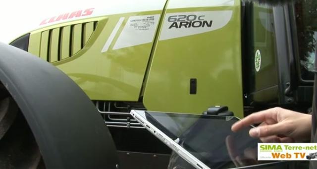 Une tablette à la place de l'ordinateur de bord du tracteur !