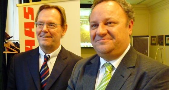 Thierry Panadero et Lothar Kriszun Claas Tracteur. Claas.