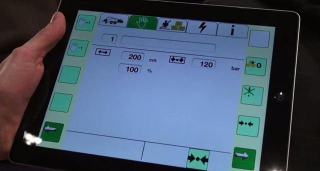 Un Ipad en cabine grâce à l'application Terminal universel Isobus de Claas