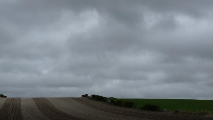 Ciel orageux et nuageux