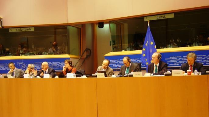 Présentation du projet d'accord de la réforme de la Pac aux membres de la Commission Agriculture du Parlement européen.