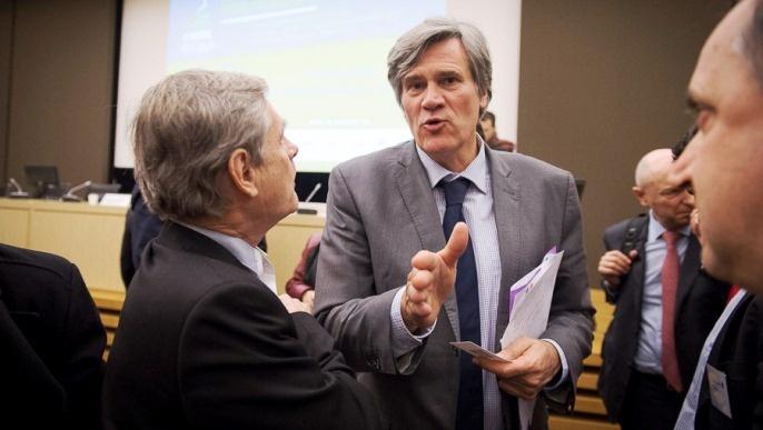 Stéphane Le Foll, ministre de l'Agriculture aux 16èmes rencontres FARRE, le Forum des Agriculteurs Responsables Respectueux de l'Environnement. .