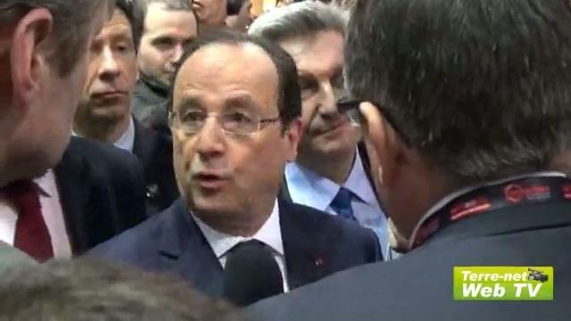 Hollande vient promouvoir l'élevage, l'innovation, la réussite et la recherche